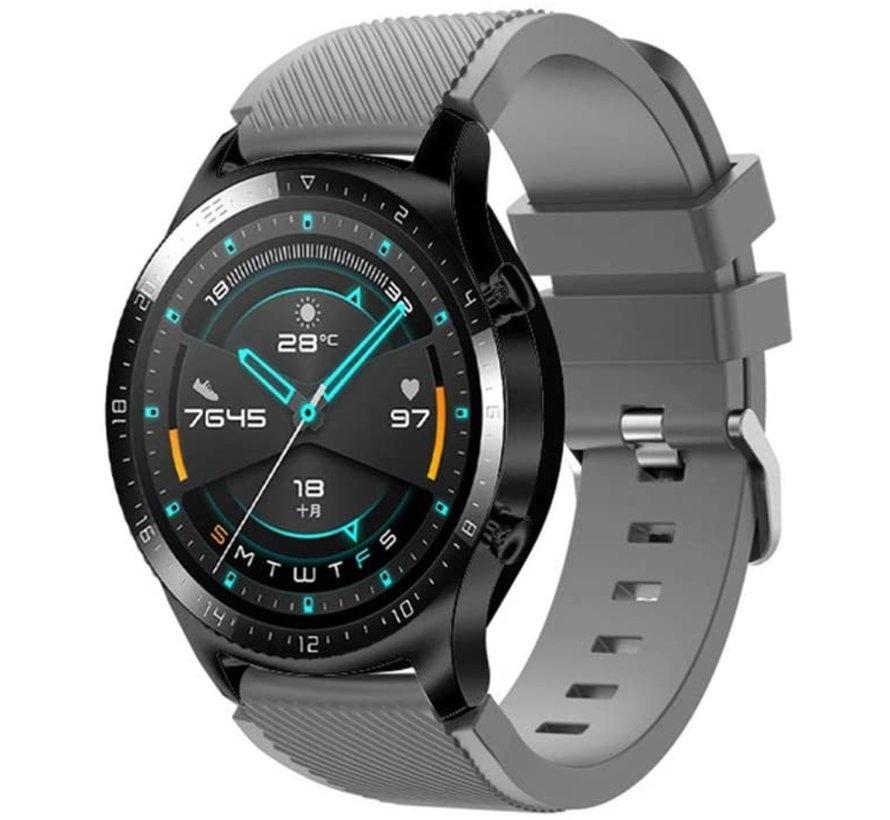 Strap-it® Huawei Watch GT siliconen bandje (grijs)