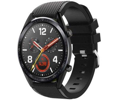 Strap-it® Strap-it® Huawei Watch GT siliconen bandje  (zwart)