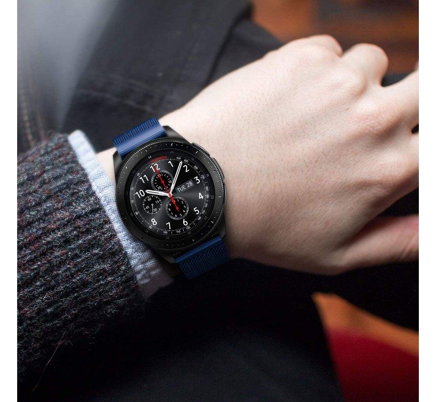 Strap-it® Samsung Galaxy Watch Milanese band 45mm / 46mm (blauw)