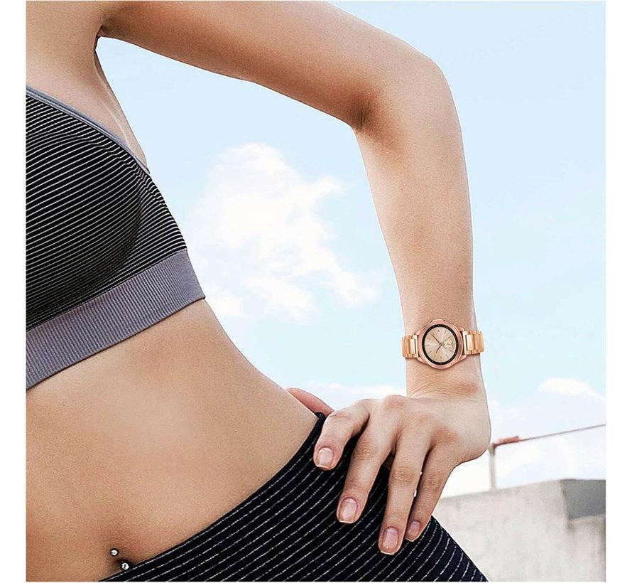 Strap-it® Samsung Galaxy Watch stalen band 41mm / 42mm (rosé goud)