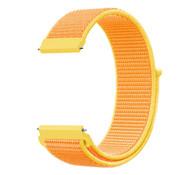 Strap-it® Garmin Vivoactive 4 nylon band - 45mm - lichtgeel