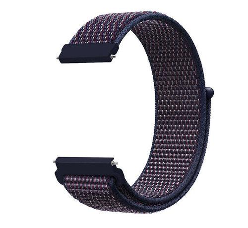 Strap-it® Strap-it® Garmin Vivoactive 4 nylon band - 45mm - paars-blauw