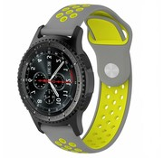 Strap-it® Samsung Galaxy Watch sport band 45mm / 46mm (grijs/geel)
