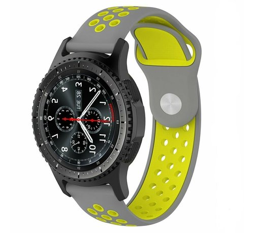 Strap-it® Strap-it® Samsung Galaxy Watch sport band 45mm / 46mm (grijs/geel)