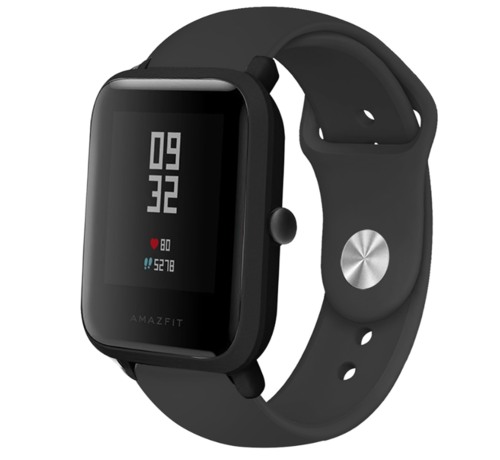 Strap-it® Strap-it® Xiaomi Amazfit Bip sport band (zwart)