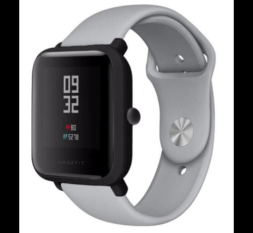 Strap-it® Strap-it® Xiaomi Amazfit Bip sport band (grijs)