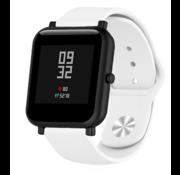 Strap-it® Xiaomi Amazfit Bip sport band (wit)
