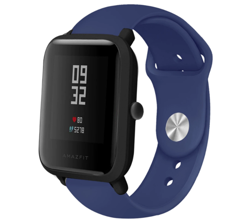 Strap-it® Strap-it® Xiaomi Amazfit Bip sport band (donkerblauw)