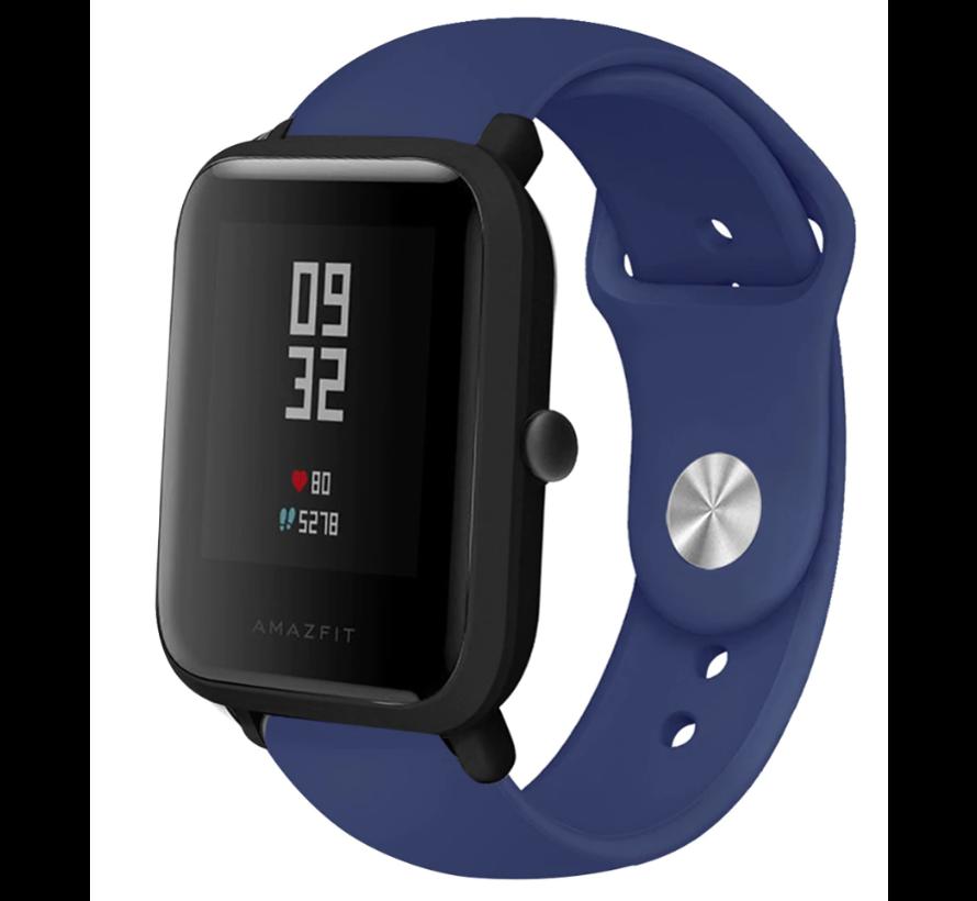 Strap-it® Xiaomi Amazfit Bip sport band (donkerblauw)