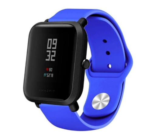 Strap-it® Strap-it® Xiaomi Amazfit Bip sport band (blauw)
