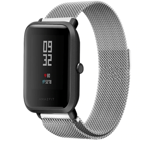 Strap-it® Strap-it® Xiaomi Amazfit Bip Milanese band (zilver)