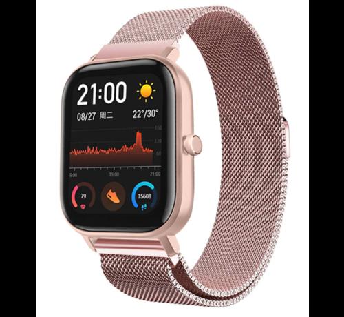 Strap-it® Strap-it® Xiaomi Amazfit GTS Milanese band (roze)