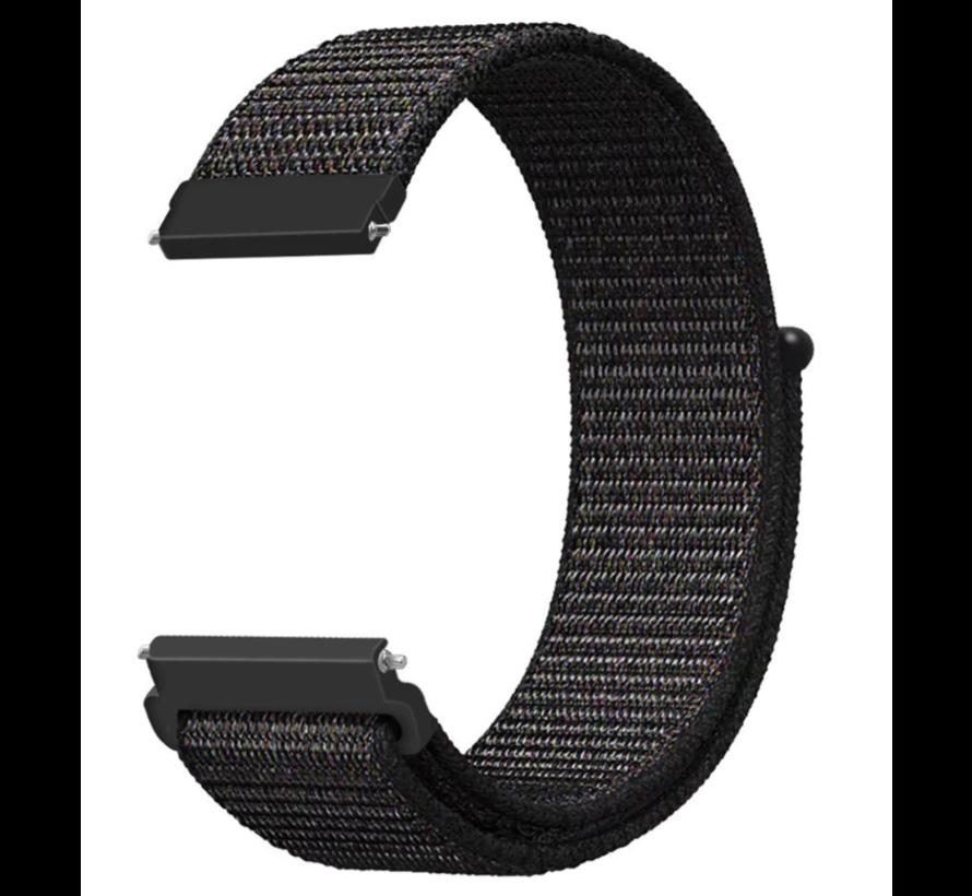 Strap-it® Xiaomi Amazfit GTS nylon band (zwart)