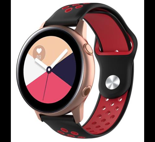 Strap-it® Strap-it® Samsung Galaxy Watch Active sport band (zwart rood)