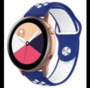 Strap-it® Samsung Galaxy Watch Active sport band (blauw wit)