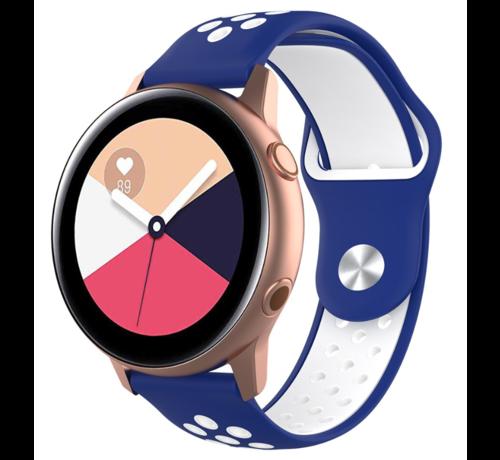 Strap-it® Strap-it® Samsung Galaxy Watch Active sport band (blauw wit)