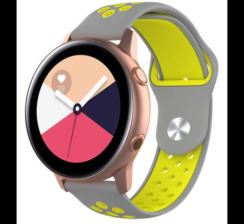 Strap-it® Strap-it® Samsung Galaxy Watch Active sport band (grijs geel)