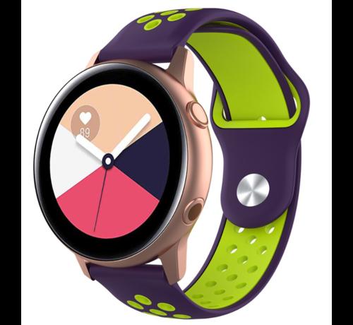 Strap-it® Strap-it® Samsung Galaxy Watch Active sport band (paars geel)