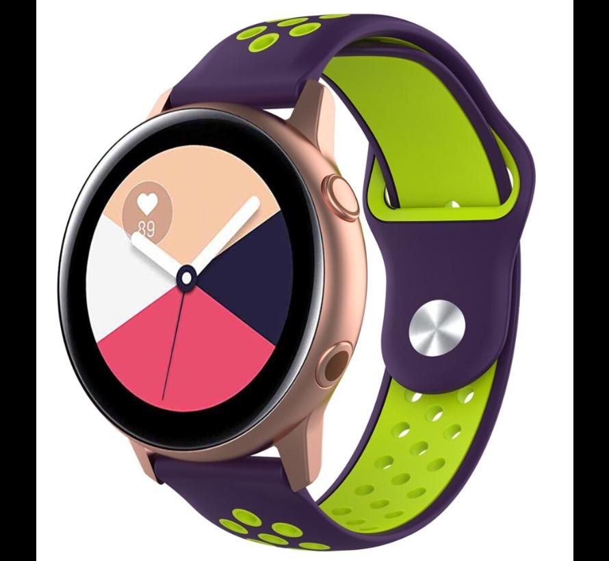 Strap-it® Samsung Galaxy Watch Active sport band (paars geel)