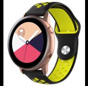 Strap-it® Samsung Galaxy Watch Active sport band (zwart/geel)