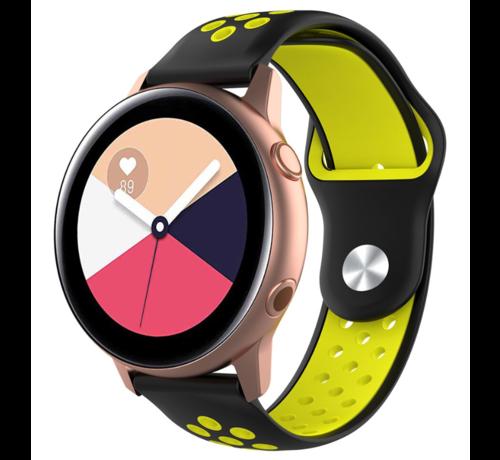 Strap-it® Strap-it® Samsung Galaxy Watch Active sport band (zwart/geel)