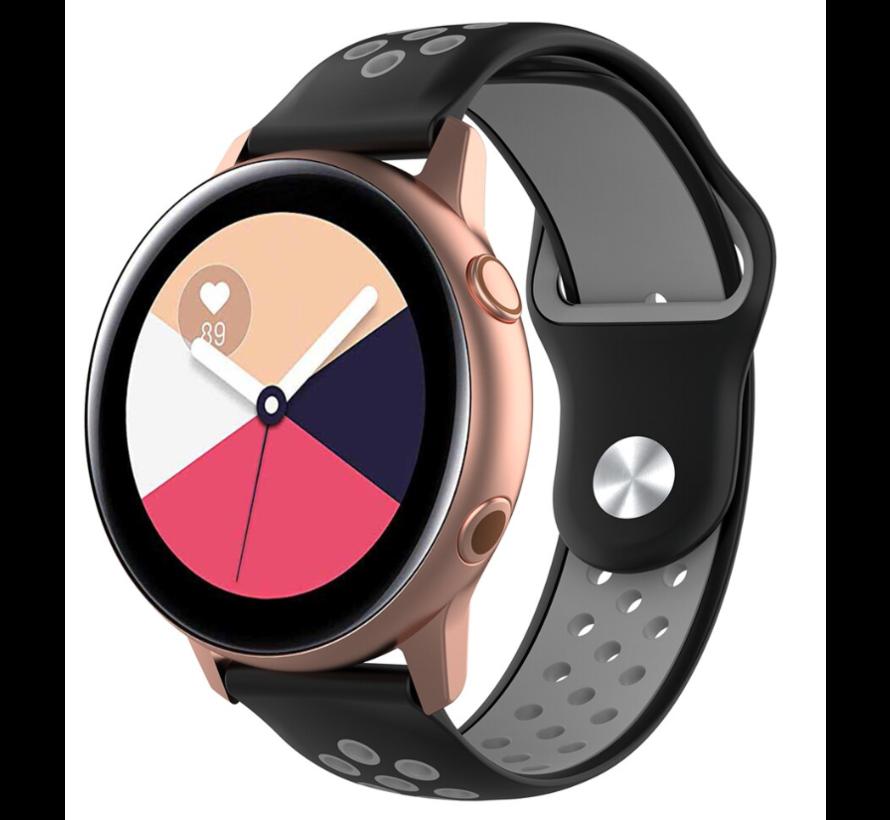 Strap-it® Samsung Galaxy Watch Active sport band (zwart/grijs)