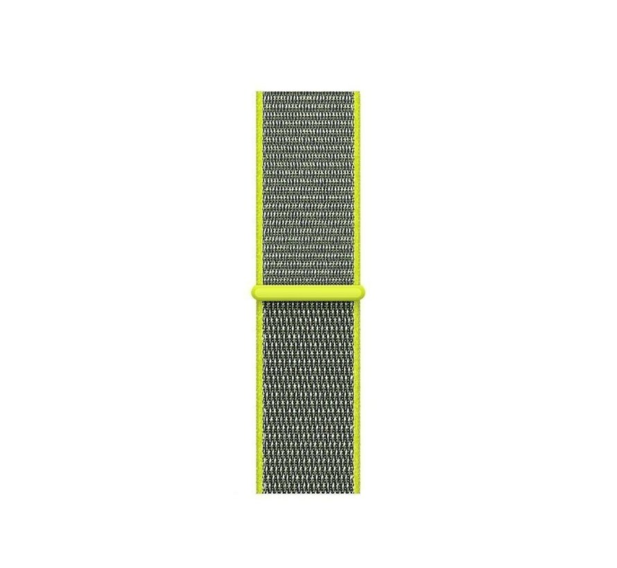 Strap-it® Garmin Vivoactive 4 nylon band - 45mm - fluoriserend