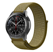 Samsung Galaxy Watch 45mm / 46mm nylon band (olijfgroen)