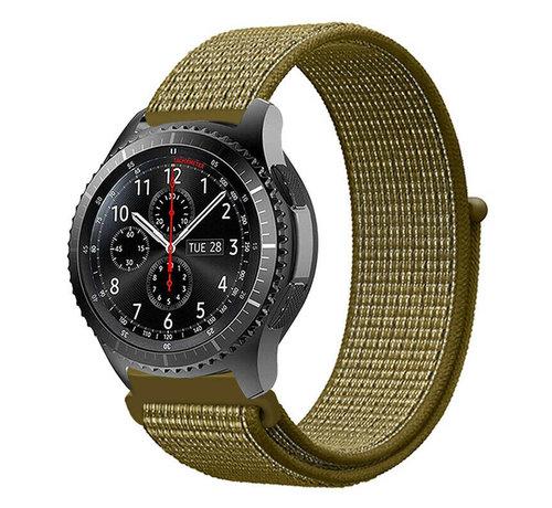 Strap-it® Strap-it® Samsung Galaxy Watch 45mm / 46mm nylon band (olijf)