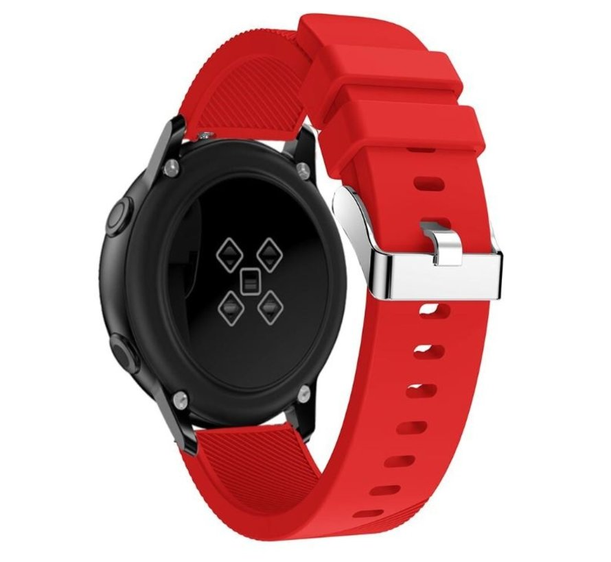 Strap-it® Samsung Galaxy Watch Active silicone band (rood)