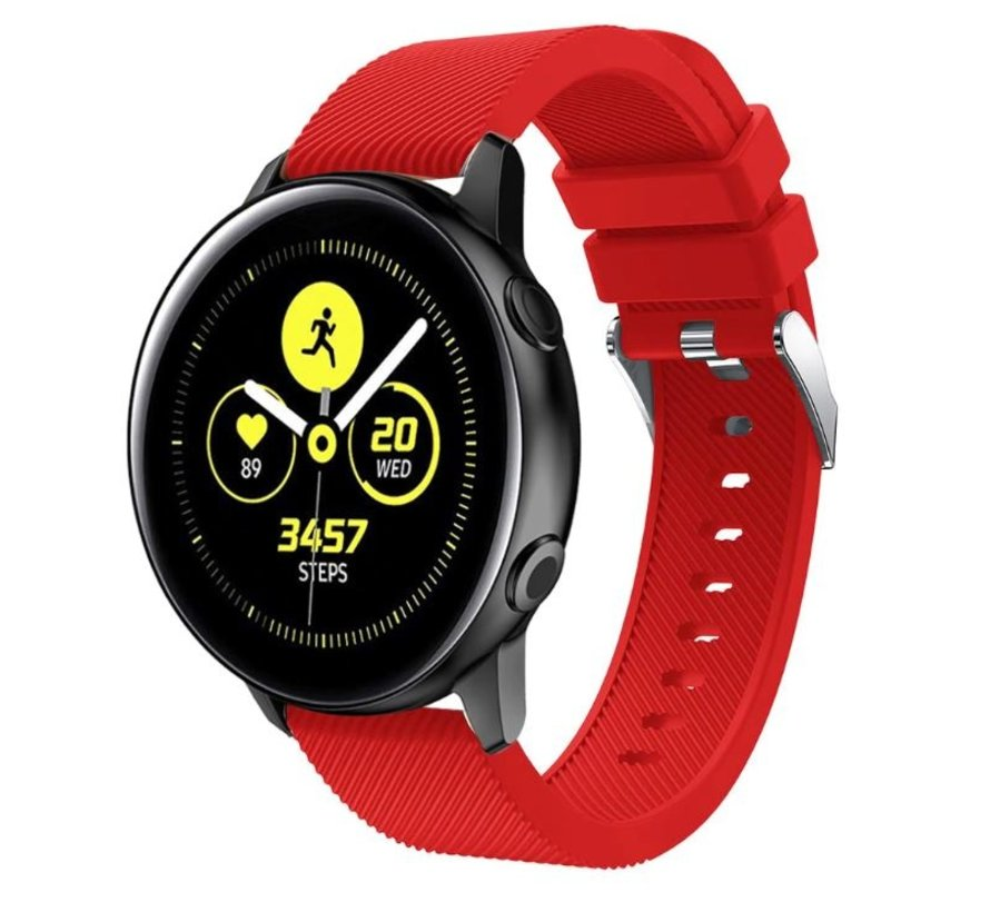 Samsung Galaxy Watch Active silicone band (rood)