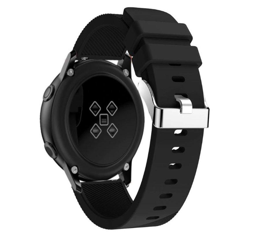 Strap-it® Samsung Galaxy Watch Active silicone band (zwart)