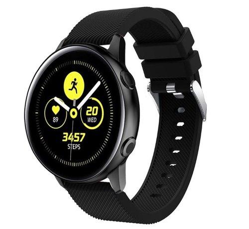 Strap-it® Strap-it® Samsung Galaxy Watch Active silicone band (zwart)