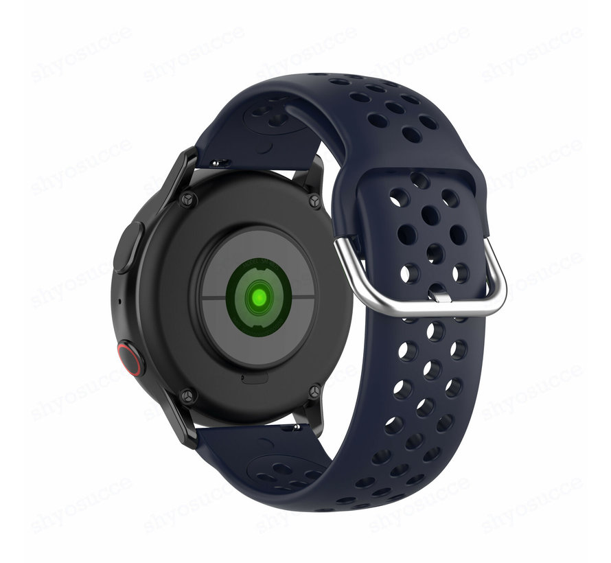 Strap-it® Samsung Galaxy Watch 41mm / 42mm siliconen bandje met gaatjes (donkerblauw)