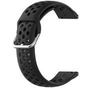 Garmin Vivoactive 4 siliconen bandje met gaatjes - 45mm - zwart