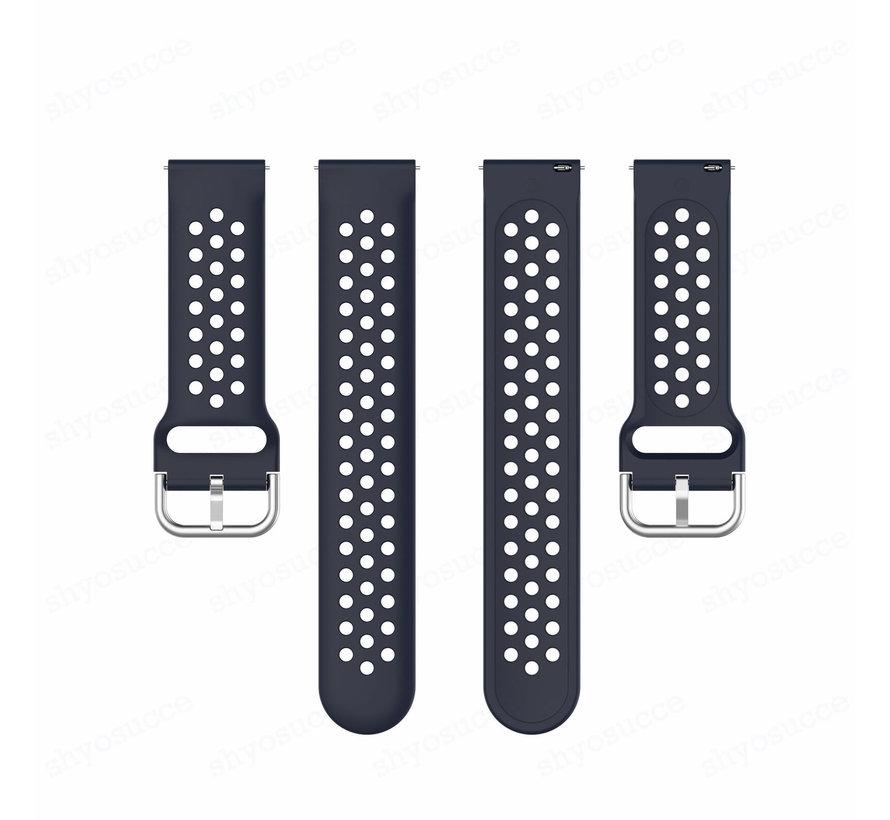 Strap-it® Garmin Vivoactive 4 siliconen bandje met gaatjes - 45mm - donkerblauw