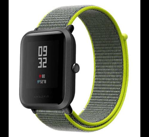 Strap-it® Strap-it® Xiaomi Amazfit Bip nylon band (fluoriserend)