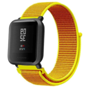 Strap-it® Xiaomi Amazfit Bip nylon band (lichtgeel)
