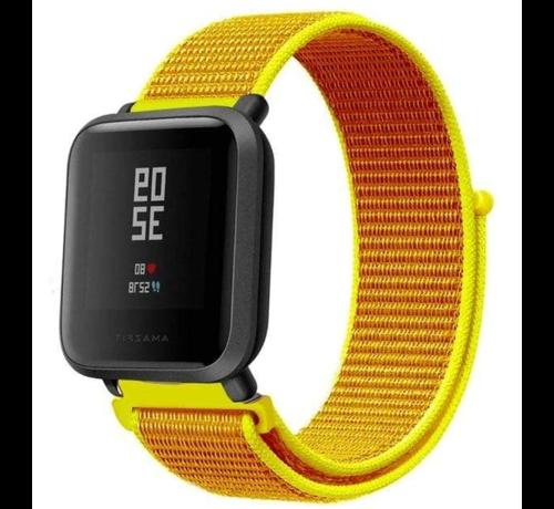 Strap-it® Strap-it® Xiaomi Amazfit Bip nylon band (lichtgeel)