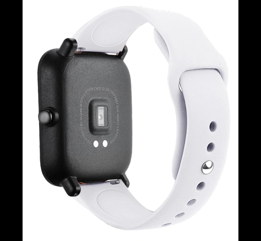Strap-it® Xiaomi Amazfit GTS sport band (wit)