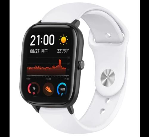 Strap-it® Strap-it® Xiaomi Amazfit GTS sport band (wit)