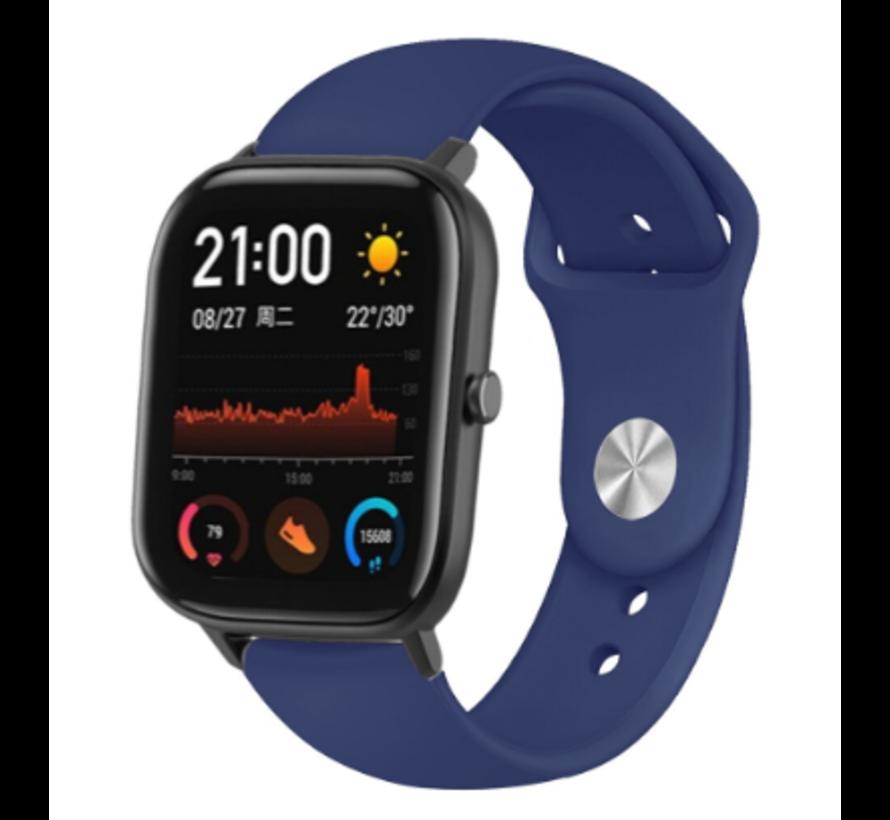 Strap-it® Xiaomi Amazfit GTS sport band (donkerblauw)