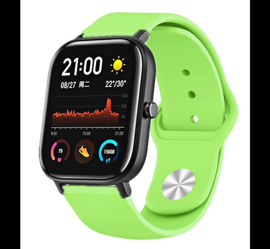 Strap-it® Xiaomi Amazfit GTS sport band (lichtgroen)