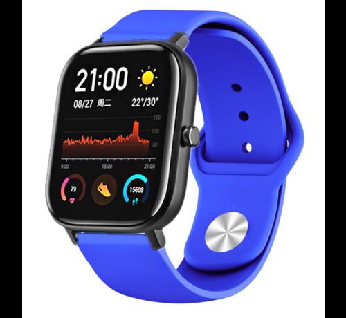 Strap-it® Strap-it® Xiaomi Amazfit GTS sport band (blauw)