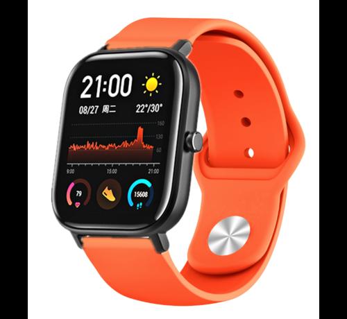 Strap-it® Strap-it® Xiaomi Amazfit GTS sport band (oranje)