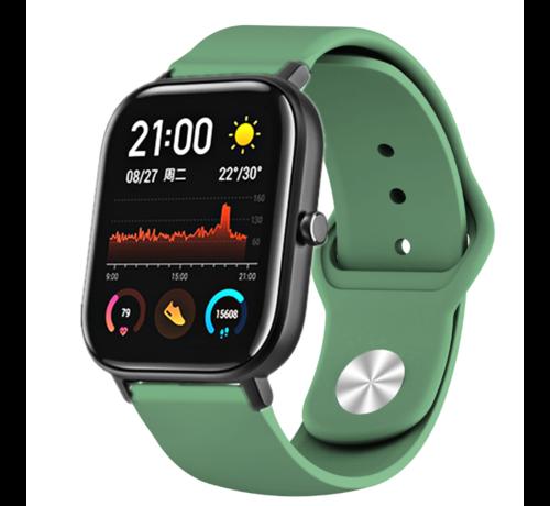 Strap-it® Strap-it® Xiaomi Amazfit GTS sport band (legergroen)