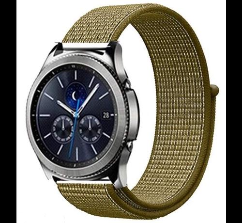 Strap-it® Strap-it® Samsung Gear S3 nylon band (olijf)
