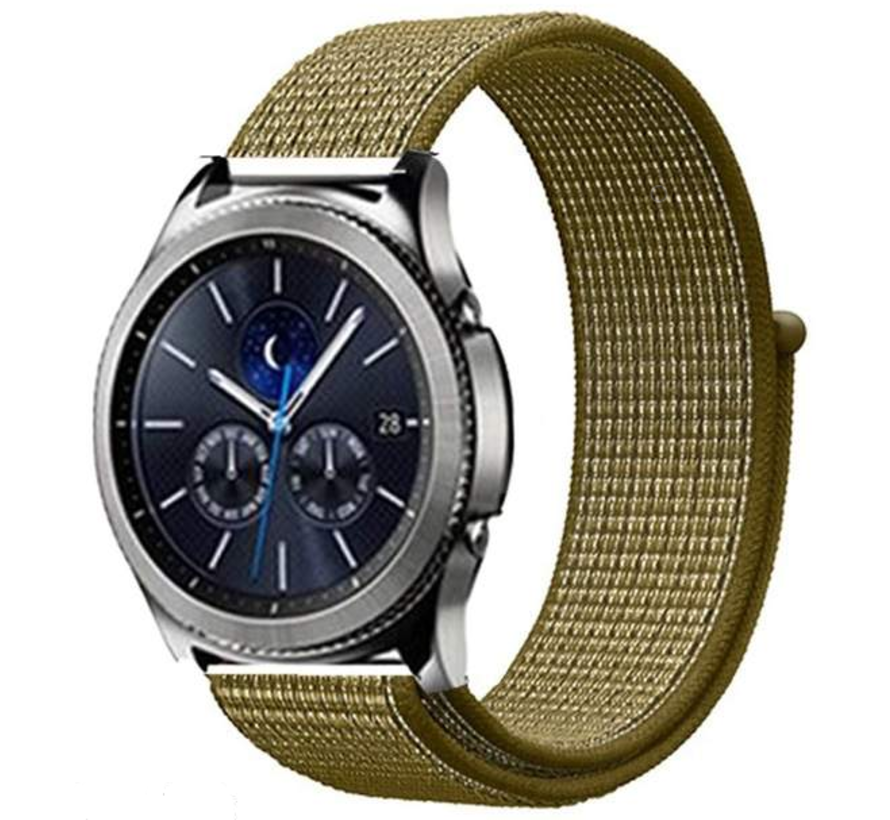 Strap-it® Samsung Gear S3 nylon band (olijf)