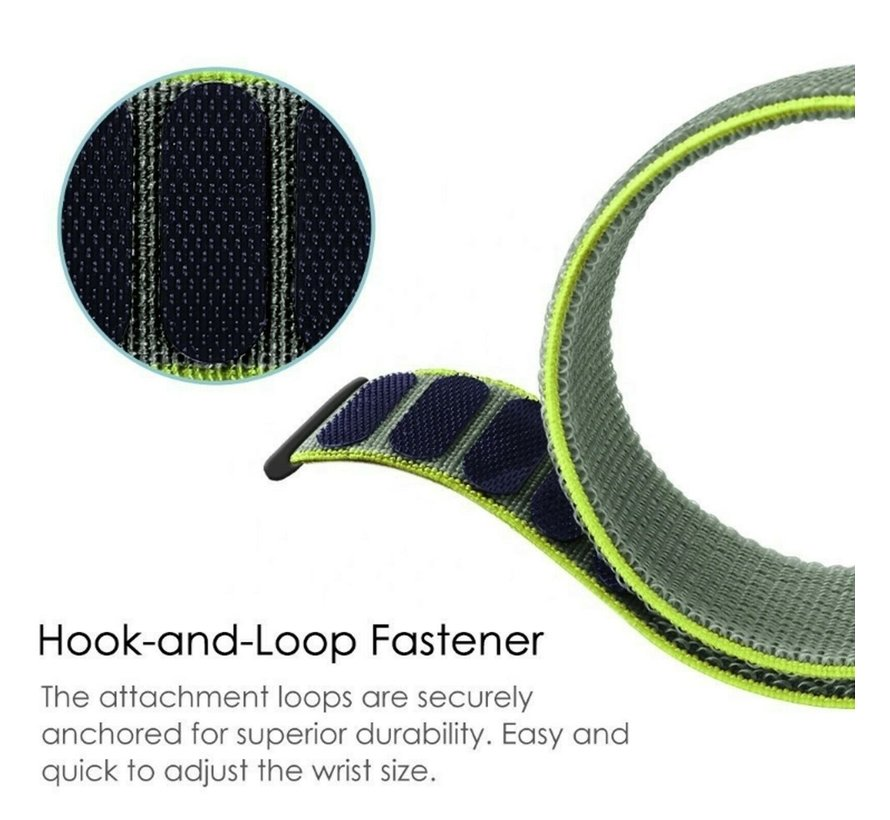 Strap-it® Samsung Gear S3 nylon band (fluoriserend)