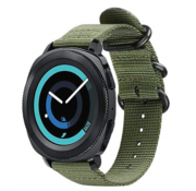 Strap-it® Samsung Gear Sport nylon gesp band (groen)